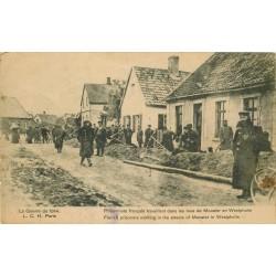 MUNSTER MUENSTER. Prisonniers français travaillant dans les rues