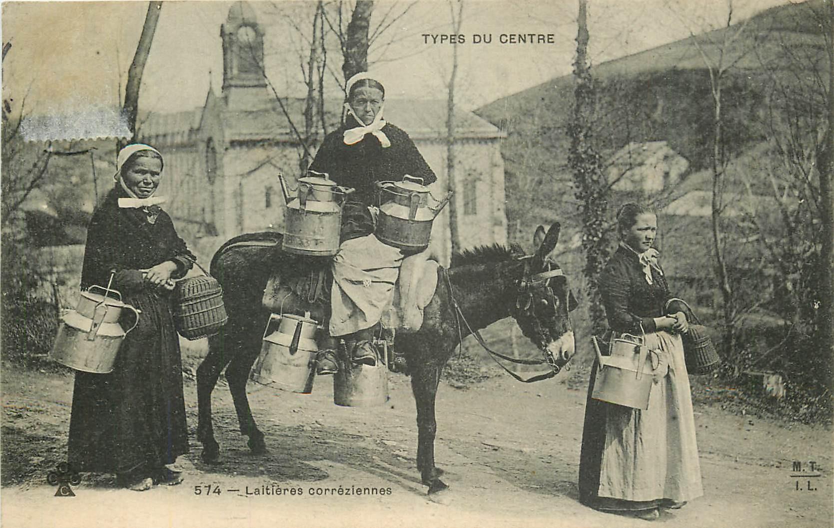 19 TYPES DU CENTRE. Laitières corréziennes 1906