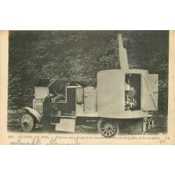 MILITARIA 2 Cpa Guerre 1914. Le repas au Cantonnement et le canon Krupp contre dirigeables