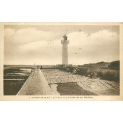 17 SAINT-MARTIN-DE-RE. Phare et Promenade des Barbettes 1935