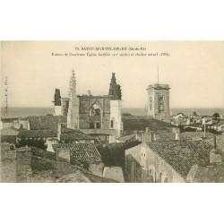 17 SAINT-MARTIN-DE-RE. Ruines ancienne Eglise et Clocher