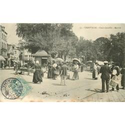50 GRANVILLE. Le Marché Cours Jonville 1907 et Banque Société Générale