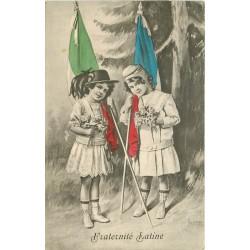MILITARIA. Fraternité latine Franco-Italienne par Audino