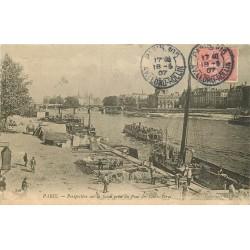 2 Cpa 75 PARIS. Bateaux sur la Seine 1907 et Rue de la Barre 1905