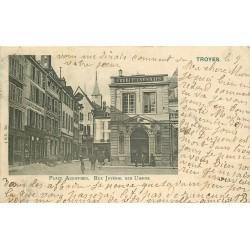10 TROYES. Banque Crédit Lyonnais Place Audifred et rue Juvénal des Ursins 1904