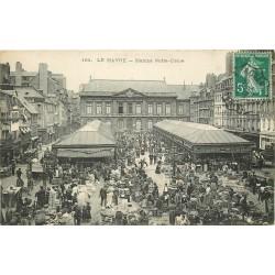 76 LE HAVRE. Marché Notre-Dame énorme animation 1908
