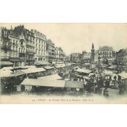 59 LILLE. Braderie sur la Grande Place 1919
