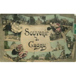 93 GAGNY. Carte toilée multivues