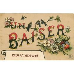 84 AVIGNON. Un Baiser avec Hirondelles et Moineaux 1922