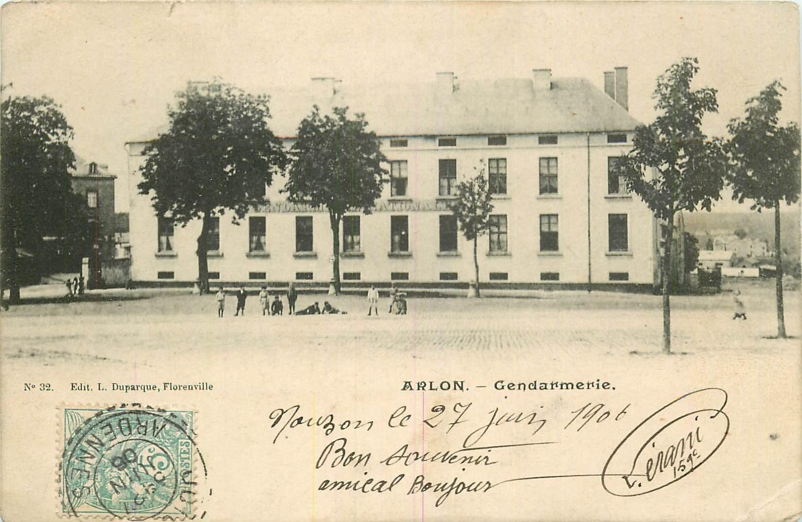 ARLON. Enfants devant la Gendarmerie 1906 au Luxembourg