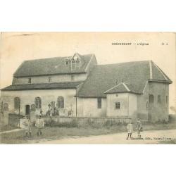 52 HOERICOURT. Eglise et Cimetière 1919