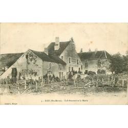52 BIZE. Café Bournot et Mairie 1907