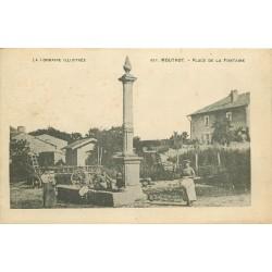2 Cpa 54 MOUTROT. Place Fontaine et Haut du Village