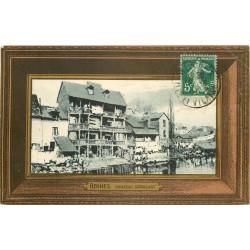 2 Cpa 35 RENNES. Château Branlant et Basilique Saint-Aubin
