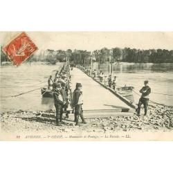 84 AVIGNON. La Parade manoeuvre de Pontage d'un Pont mobile 1910