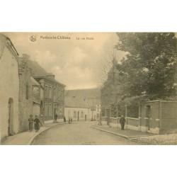 2 Cpa MERBES-LE-CHATEAU. Rue Haute et Eglise