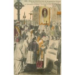 2 Cpa 75 PARIS. Pose Bénédiction première Pierre Sacré-Coeur Montmartre et Théâtre Marigny