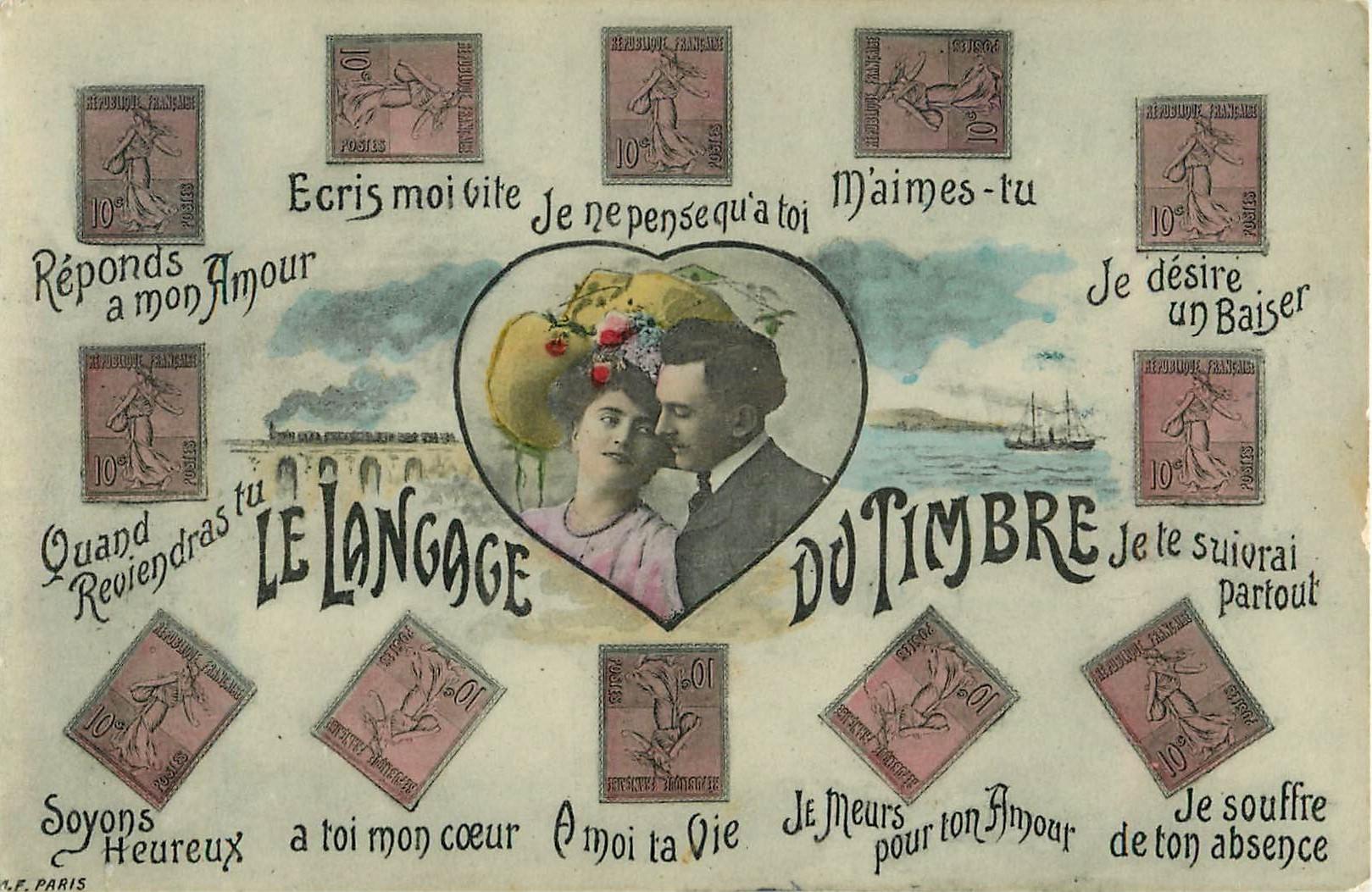 FANTAISIE. Le Langage du Timbre en Amour 1908