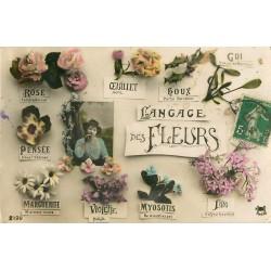 FANTAISIE. Le Langage des Fleurs 1912