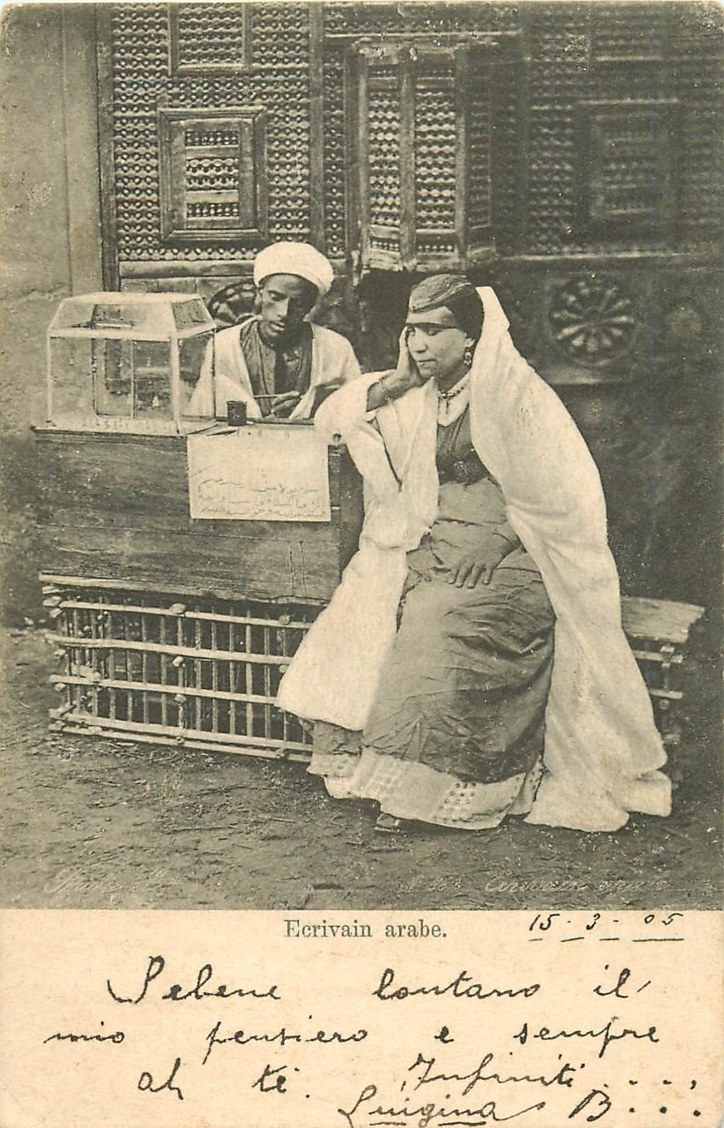 EGYPTE. Ecrivain arabe 1905