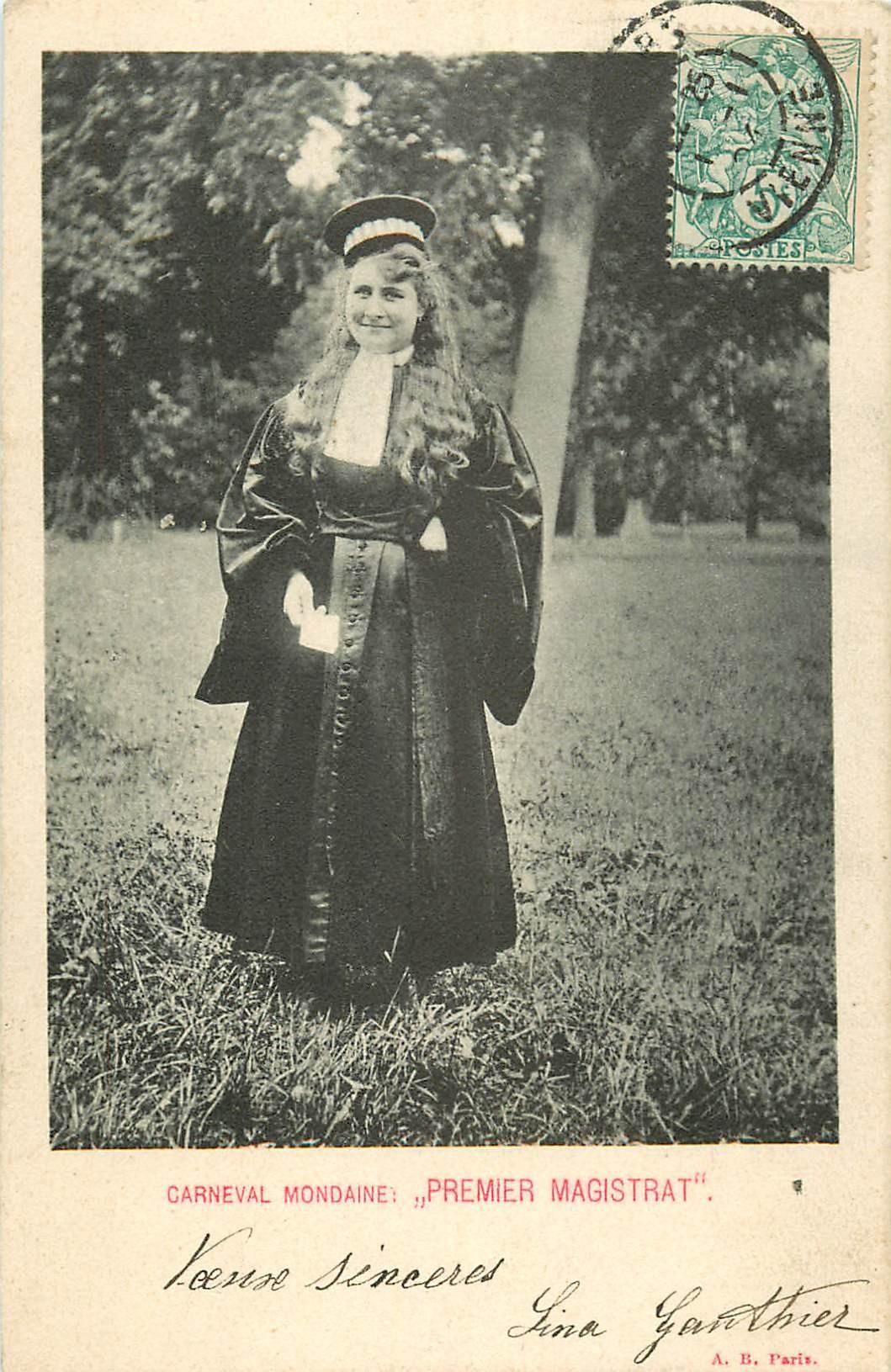 SPECTACLE. Carneval Mondaine Premier Magistrat 1904