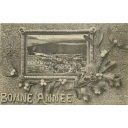 COUVET. Vue générale avec la Bonne Année 1913