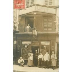 75010 PARIS. Rare Barbier Coiffeur 2 rue du Corbeau (rue Jacques-Louvel-Teissier) 1911