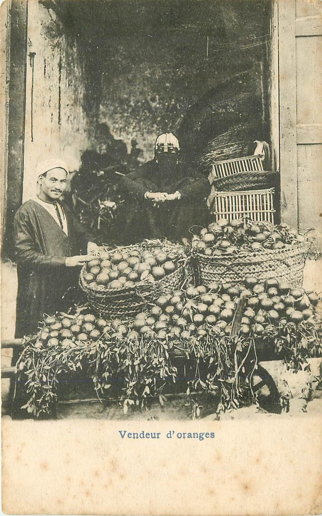 EGYPTE. Vendeur d'Oranges vers 1900
