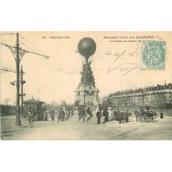 92 NEUILLY-SUR-SEINE. Monument aux Aéronautes Siège de Paris de 1870
