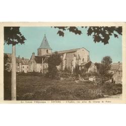 23 ROYERE. Eglise vue du Champ de Foire 1941