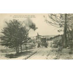 2 Cpa 63 PUY DE DOME. Chemin de fer Passage Col Ceyssat et Grant Tournant 1921