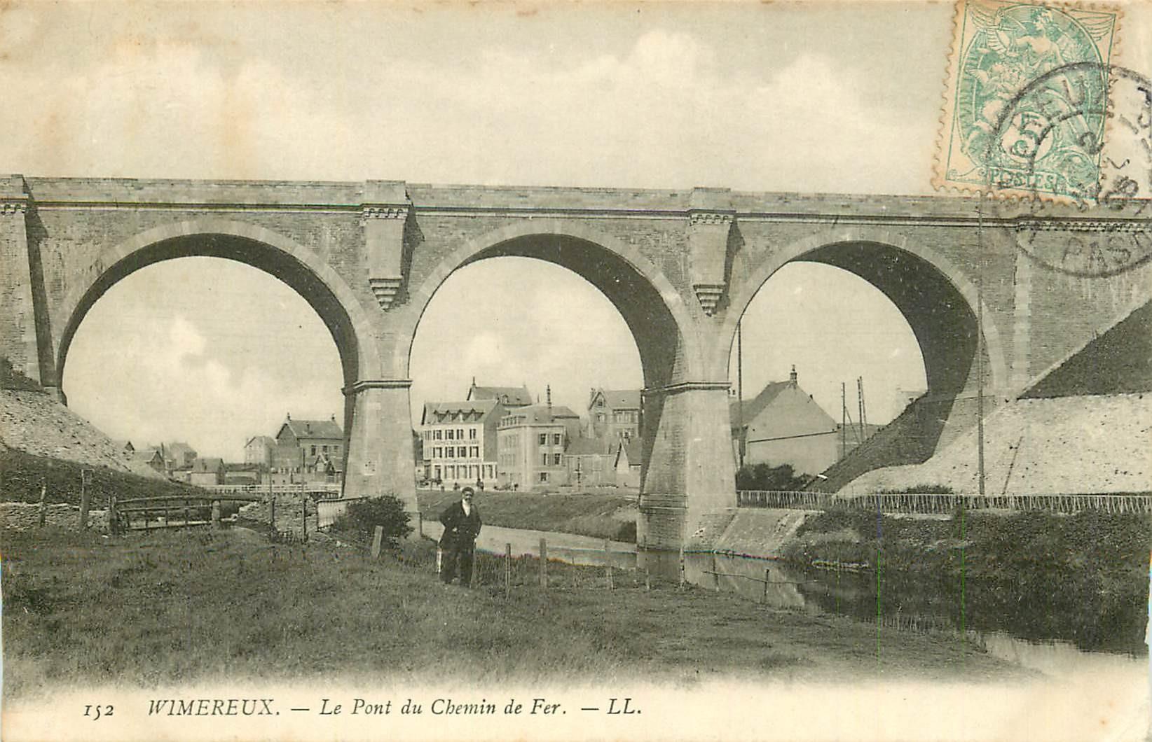 2 Cpa 62 WIMEREUX. Pont Chemin de Fer et Splendid Hôtel