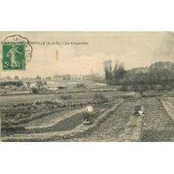 2 Cpa 91 MEREVILLE. Cressonnières et Moulin Boigny