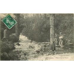 53 MEZANGERS. Chute d'eau du Moulin 1911