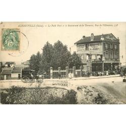 94 ALFORTVILLE. Restaurant de la Terrasse rue Villeneuve et Petit Pont 1907
