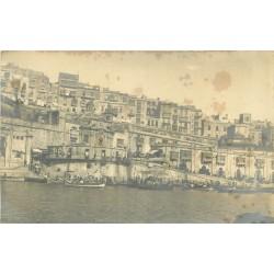 MALTA MALTE. Photo carte postale du Port Marché aux poissons
