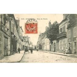 2 cpa 89 AUXERRE. Rue de Paris et Pont Suspendu 1908