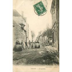 89 CHITRY. Tonneliers sur Grande Rue 1909