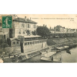 78 POISSY. Restaurant Esturgeon et son Bac 1907