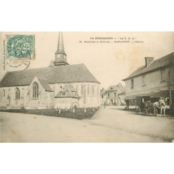 27 HARCOURT. Attelage à côté de l'Eglise 1907