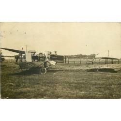 AVIATION. Très ancien Avion à hélice et pales sur les côtés