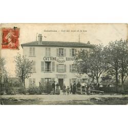 92 GRESILLONS. Café des Amis de la Joie 1907