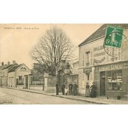 77 CHOISY-EN-BRIE. Cordonnerie, Vins Café Lemaire Juneau rue de la Poste 1913