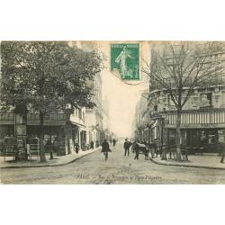 PARIS XV. Tabac et Café du Rond Point Place Falguière et rue de Procession 1909