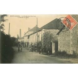 87 SAINT-JUNIEN. Sortie des Ouvriers Usine du Goth 1910