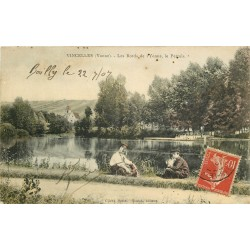 89 VINCELLES. Le Pertuis et Cheminots sur les Bords de l'Yonne 1907
