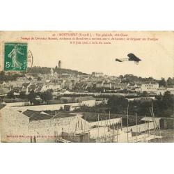 91 MONTLHERY. Passage Aviateur Morane 1910