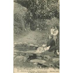 50 URVILLE-HAGUE. Lavoir et Source d'Amour au Hameau Capel 1925