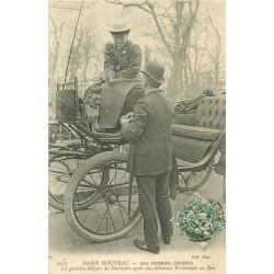 PARIS NOUVEAU. Les Femmes Cocher Cochère 1907. Le Pourboire