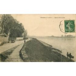 41 CHOUZY. Passeur en barque Bords de Loire 1923